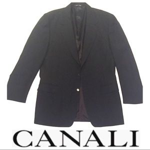 Canali Blazer - Made in Italy - Fine Wool - Black